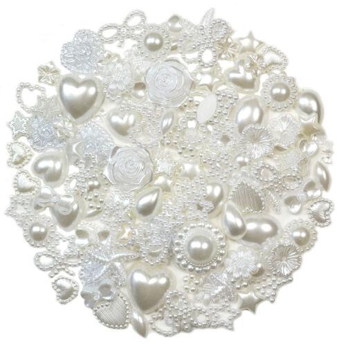 50pcs IVORY Flatback Pearl Embellishments Cabochon Scrapbooking Wedding Craft