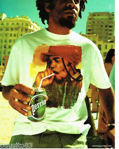 PUBLICITE ADVERTISING 096  2002  Perrier boite eau minérale Bob Marley