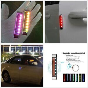 Image is loading 2-x-Solar-LED-Car-Door-Edge-Body- & 2 x Solar LED Car Door Edge Body Scratch Protector Bar Strobe Light ...