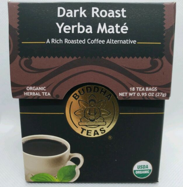 Buddha Teas Certified Organic Dark Roast Yerba Mate 18 Tea Bags