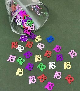 MULTI-colour-18th-Birthday-Party-Table-Confetti-Decorations-Age-Sprinkles-Adult