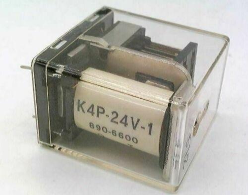 Relay 24VDC K4-24V-1 4PDT National 3 Pieces