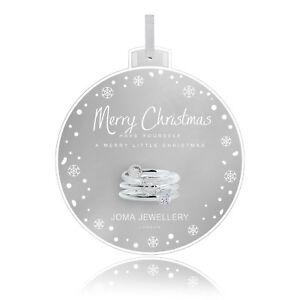 Joma-Jewellery-Babioles-Merry-Christmas-Anneaux-Set-3-avec-Cadeau-Sac-amp