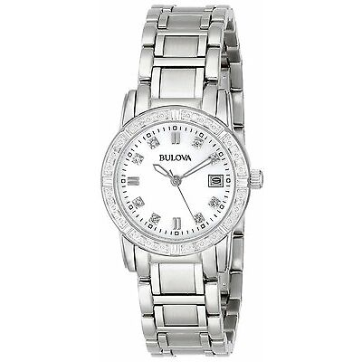 Bulova Women's 96R105 Diamond-Accented Silver Tone Stainless Steel Watch