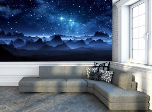 Clair de Lune étoiles Nuit Ciel PHOTO PAPIER PEINT MURAL décor Poster Wall Art