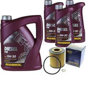 Olwechsel-Set-8L-MANNOL-Diesel-TDI-5W-30-API-Motoroel-SCT-Filter-KIT-10202219