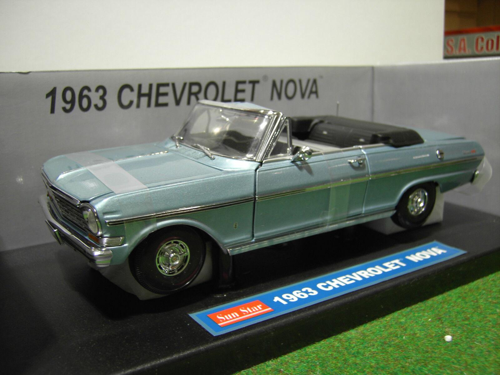 CHEVROLET NOVA cabriolet 1963 ble 1 18 SUNSTAR 3972 voiture miniature collection