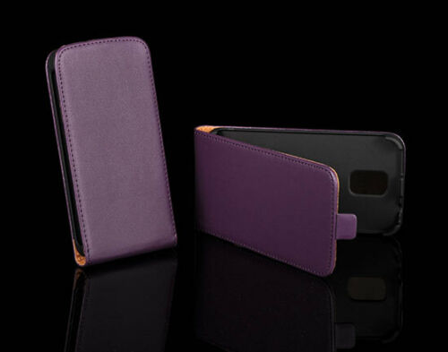 Etui Eco-Cuir Violet Case Coque Cover Leather Purple SAMSUNG GT-I9500 GALAXY S4