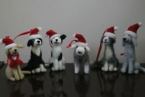 Needle-Felted-Collie-Bedlington-Staffie-Lab-amp-Sheep-Christmas-Tree-Decoration