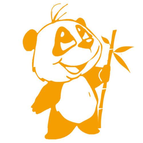 Sticker Décoration Animal Mignon PANDA BAMBOUS 20x17cm à 35x29 cm