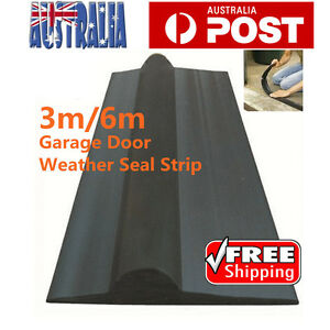 Solid-Garage-Door-Weather-Seal-Strap-Floor-Threshold-Seal-3m-6m-AU-Stock