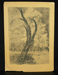 Lithography-Original-Leon-Wyczolkowski-1852-1936-Poland-c1930