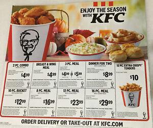 Kfc Coupons Kentucky Fried Chicken Exp12 31 2020 1sheet 18 Coupons Ebay