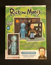 RICK AND MORTY SMITH FAMILY GARAGE RACK 108 PC CONSTRUCTION SET 2 FIGURES