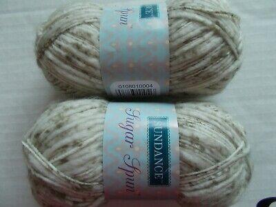 lot of 2 114 yds ea Sundance Sugar Spun wool blend baby yarn Winter Green