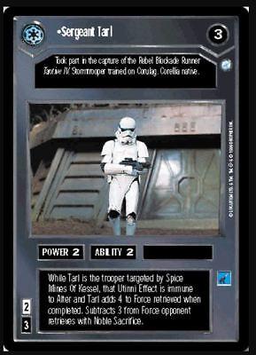 Star Wars CCG Endor DS Rare Sergeant Barich