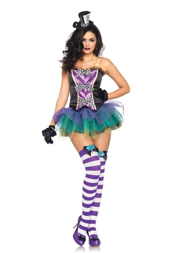 Sexy Mad Hatter Adult Womens Costume Alice in Wonderland Outfit