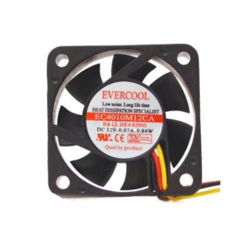 3Pin Evercool EC4010M12CA  40mm x 10 mm Ball Bearing fan