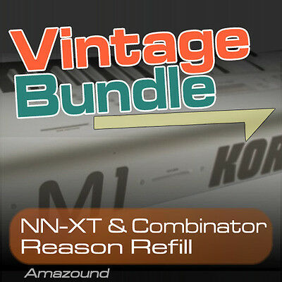 KORG M1 + 01W + X5 REASON REFILL BUNDLE 400+ NNXT & COMBINATOR 4000+ SAMPLES 24b