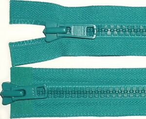 YKK-vislon-fermeture-eclair-Vert-Sarcelle-28-034-71cm-Chunky-dents-deux-sens