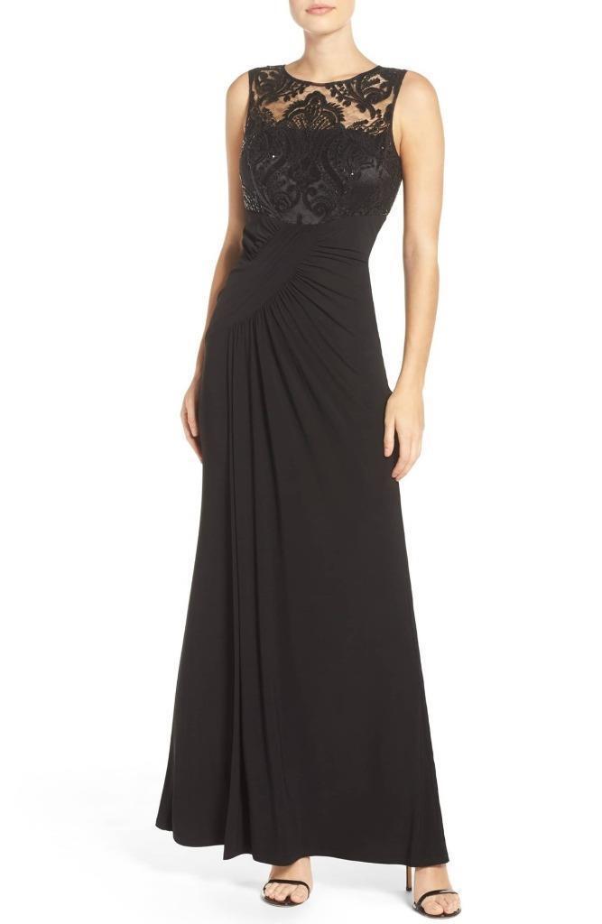 Eliza J Draped Sleeveless Gown- Größe 12  (F)