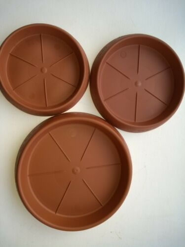 17cm Round Strong Plastic Plant Pot Saucers Drip Tray Saucers pack of 5 saucers