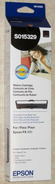 Genuine Epson S0115329 Ribbon For FX-890 Printer: NEW & Sealed! FREE Shipping!