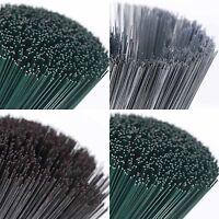 "Green Rose Silver Galvanised Floral Stub Wire 18 22 24 28 30 32 swg Gauge 7"" 10"""