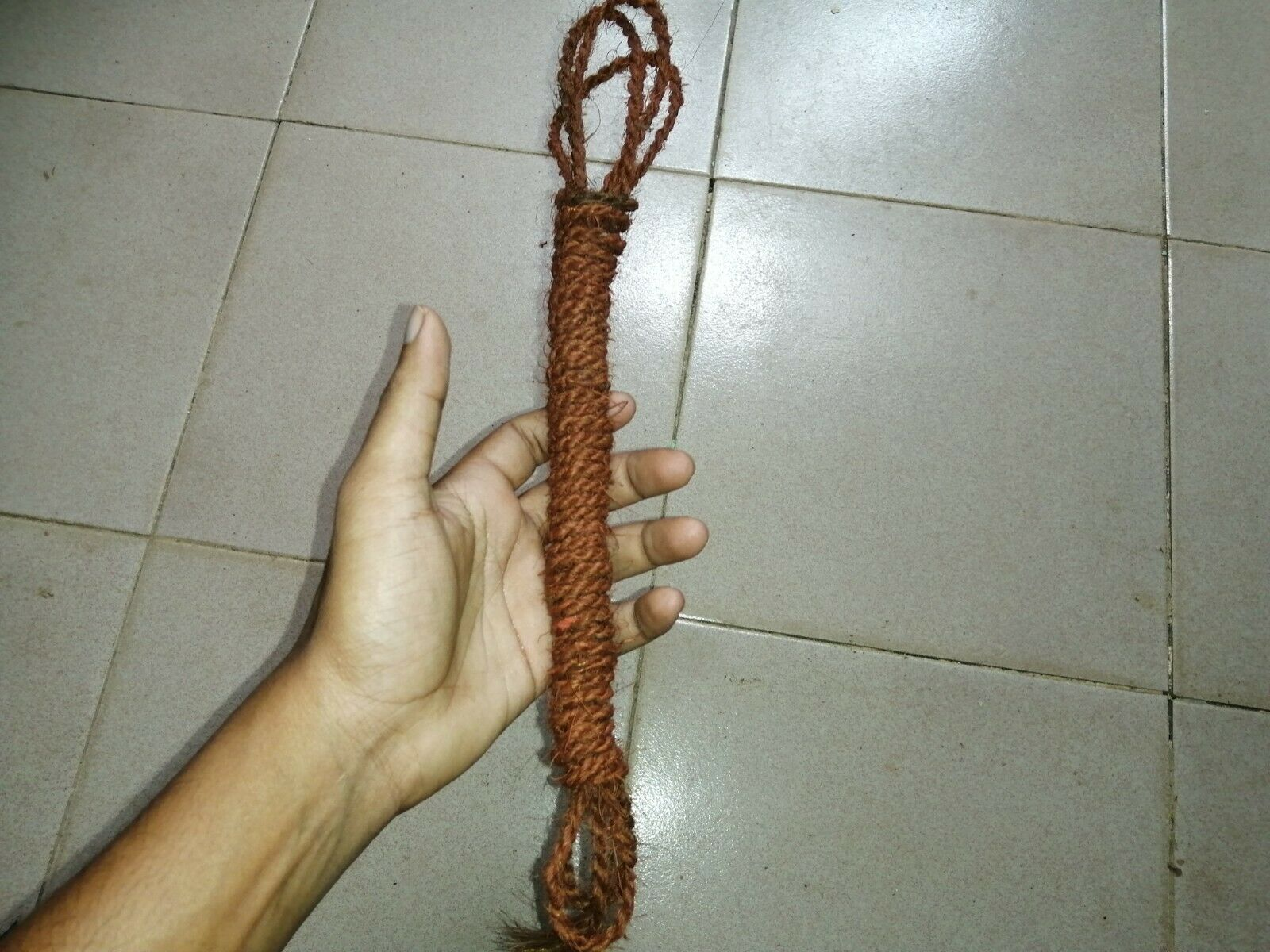 Coconut Husk Fiber Rope Handmade Coir Twisted Red Color Christmas Decor Craft