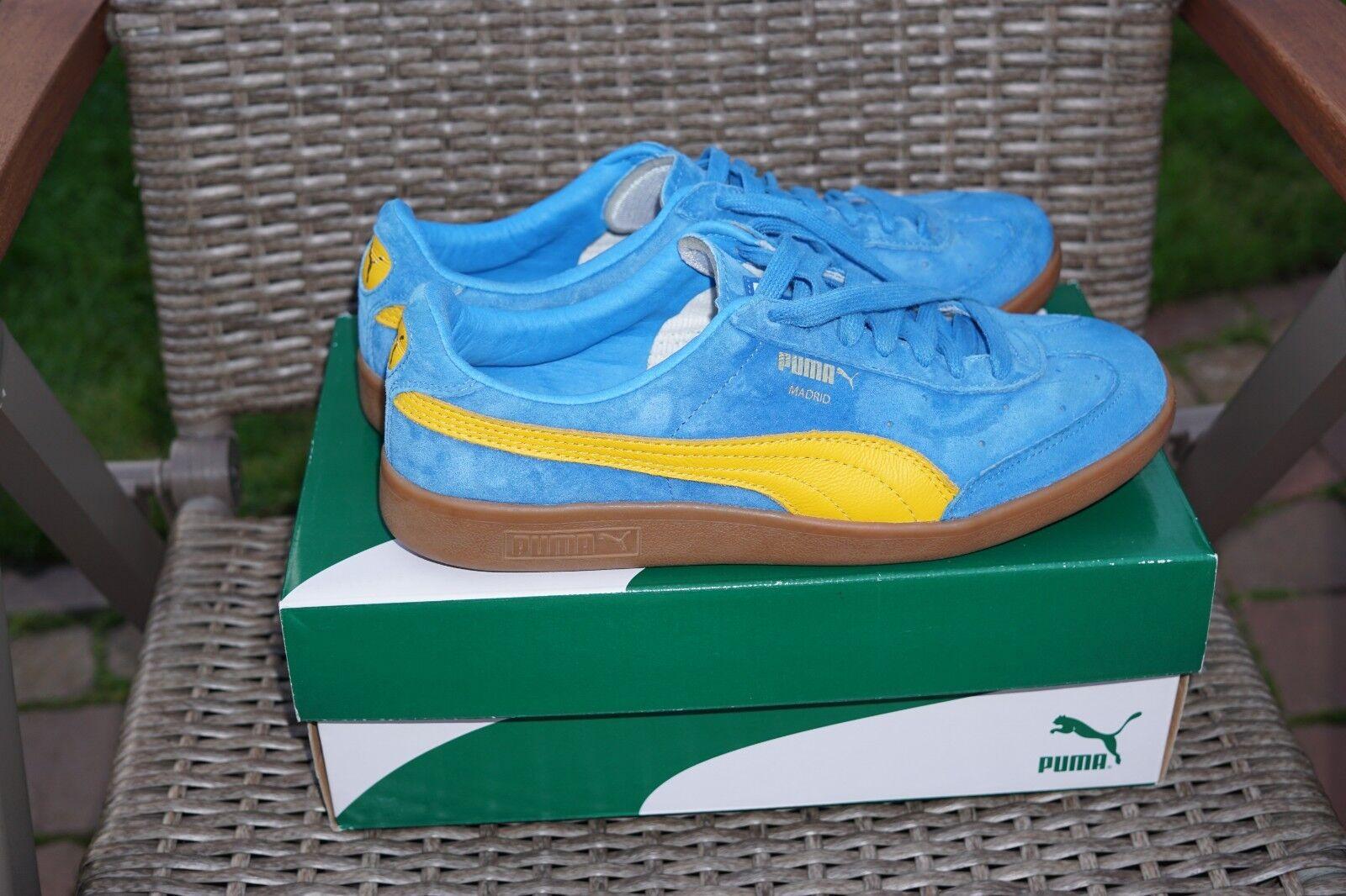 Puma - sneaker in madrid. turnschuhe blau blau blau gelb wie neu mit karton 10 988a9a