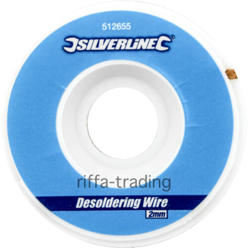 Desoldering Wire, Copper Braid, Soldered Joint Remover, Flux,Wick,Solder,1mm,2mm