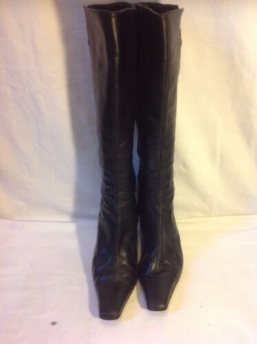 Leather Knee High 6 Size Boots Black Next gTaZv