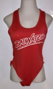 Womens Red BAE WATCH 1 Piece Swimsuit ~ Size Large L ~ Baywatch