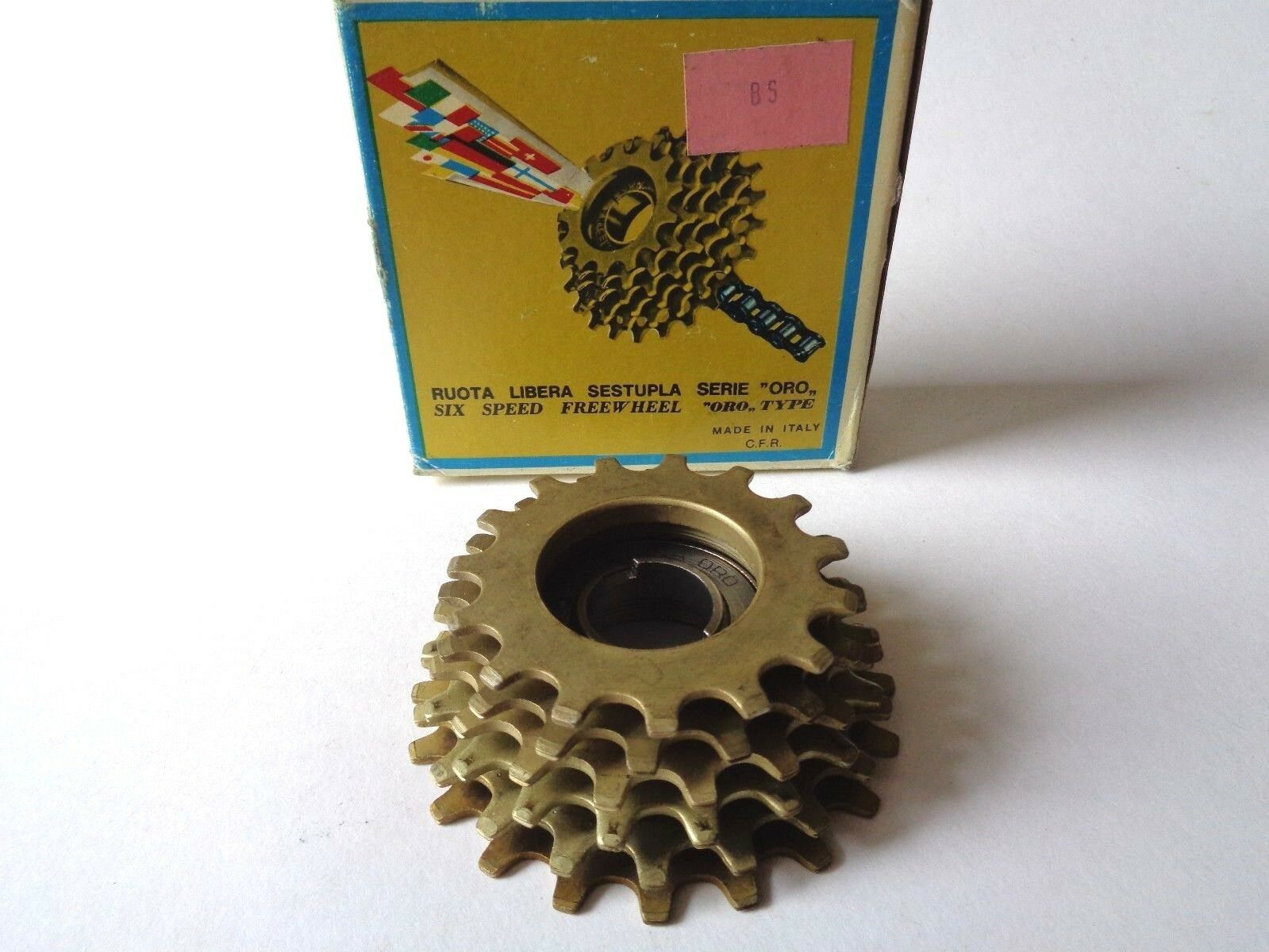 NOS Vintage 1980s REGINA EXTRA gold 15-20 cogs 6 Speed ISO freewheel cassette