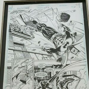 DETECTIVE COMICS 683 (featuring Batman) page 11 signed by Graham Nolan