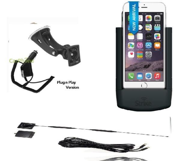 iPhone 8 Plus car cradle inc external antenna connection -strike  car kit