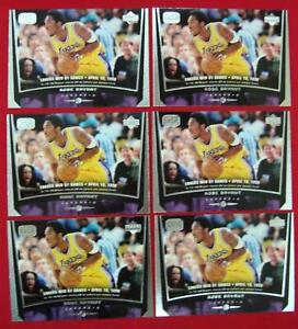 KOBE-BRYANT-1998-99-UPPER-DECK-GAME-DATED-BASKETBALL-6-CARD-LOT-75-L-A-LAKERS