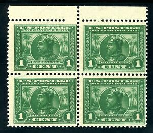 USAstamps-Unused-FVF-US-1913-Panama-Pacific-Balboa-Block-Scott-397-OG-MNH