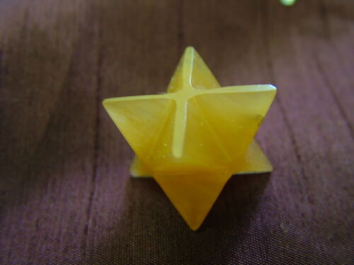 Golden Quartz Merkaba Star