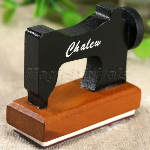 1× Funny Sewing Machine Wooden Rubber Stamp Birthday Card DIY Craft Scrapbooking