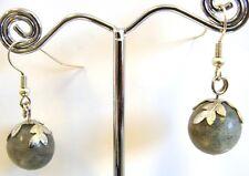Handmade 'Berries' Genuine Labradorite Gemstones Earrings