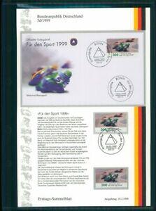 BRD-ETSB-1999-5d-ERSTTAGS-SAMMELBLATT-SPORT-MOTORRAD-RENNSPORT-MOTORCYCLE