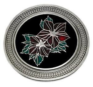 keltische-blume-guertelschnalle-rund-round-leaf-rot-gruen-authentic-dragon-designs