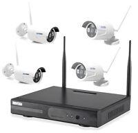wlan netzwerkkamera berwachungsset video berwachung funk ip kamera set aussen ebay. Black Bedroom Furniture Sets. Home Design Ideas