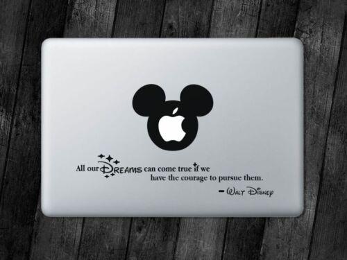 Disney Quote Sticker Mickey Decal Apple MacBook iPad Laptop Car Window