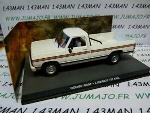 JB125E-voiture-1-43-IXO-007-JAMES-BOND-Angleterre-DODGE-RAM-Licence-to-kill