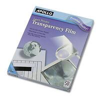 Apollo B/w Laser Transparency Film W/o Sensing Stripe Letter Clear 50/box Cg7060 on sale