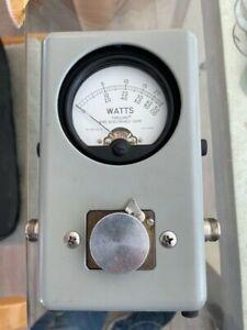 Bird 43 Thruline Wattmeter Watt Meter / Mint with Leather Case & Many Adapters