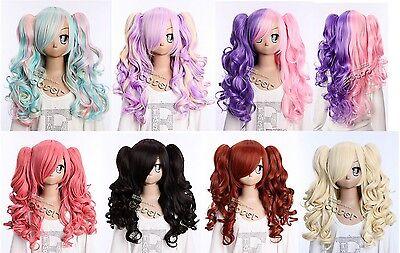 W-15 Kawaii Gothique Lolita Harajuku Boucles Curls 65cm long Perruque Cosplay