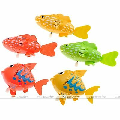 Cute Wind Up Moving Swimming Fish Frog Turtle Baby Kid Bath Time Tub Play Toy